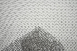 Tiul brokatowy w kolorze srebrnym