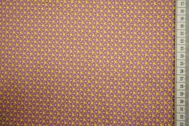 Bawełna drukowana w kolorze różowym w żółty wzór