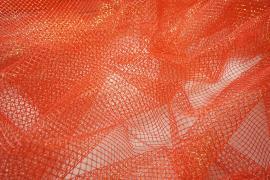 Tiul brokatowy w kolorze pomarańczowym