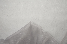 Tiul brokatowy - kolor srebrny