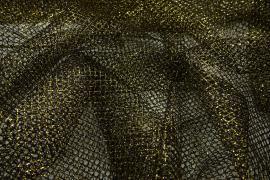 Tiul brokatowy w kolorze starego złota