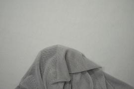 Tiul elastyczny w kolorze popielatym