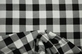 Flanela w kolorze czarno-białym
