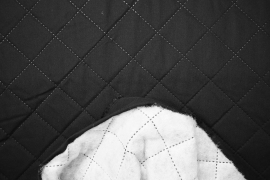 Podszewka pikowana - kolor czarny
