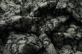 Podszewka pikowana szary paisley