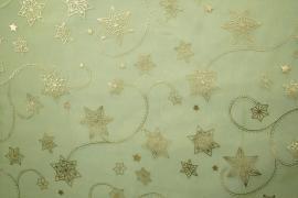 Organtyna w kolorze zielonym w złote gwiazdki