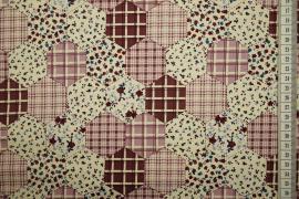 Bawełna drukowana - lawendowe sześciany
