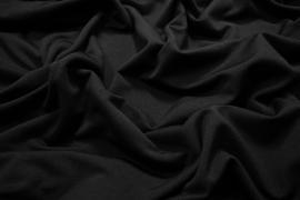 Dzianina ocieplana w kolorze czarnym