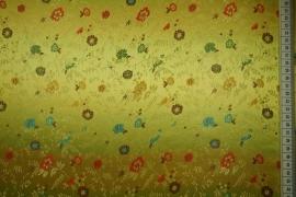 Żakard w kolorze żółtym