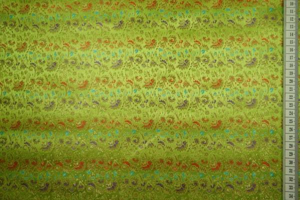 Żakard w kolorze zielonym