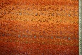 Żakard w kolorze pomarańczowym