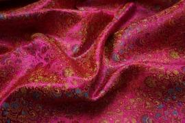 Żakard w kolorze fuksji