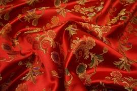 Żakard w czerwonym odcieniu