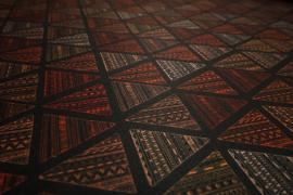 Filc drukowany - kolorowe trójkąty