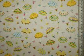 Bawełna drukowana - kolorowe parasolki