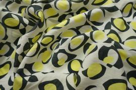 Sztuczny jedwab - żółte plamki