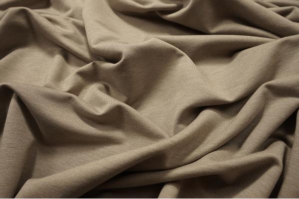 Dzianina bawełniana z elastanem - kolor beżowy