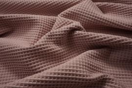 Bawełna wafel w kolorze brudnego różu