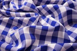 Tkanina dekoracyjna - kratka chabrowa duża