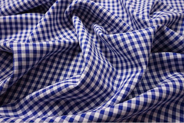 Tkanina dekoracyjna - kratka chabrowa mała