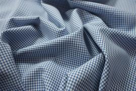 Tkanina dekoracyjna - kratka błękitna mała