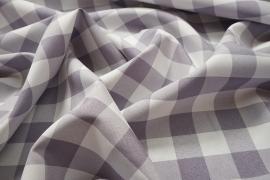 Tkanina dekoracyjna - kratka szaro-fioletowa