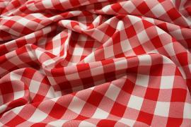 Tkanina dekoracyjna - kratka czerwona duża
