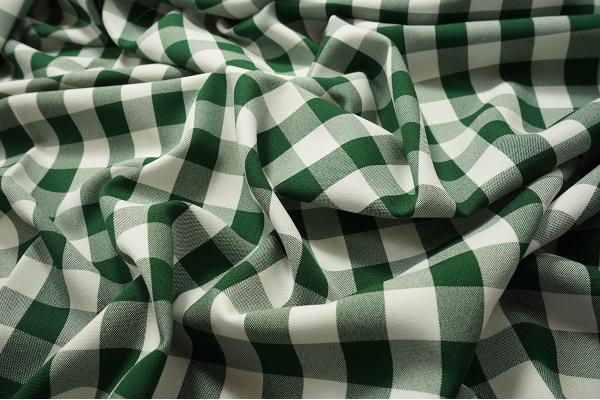 Tkanina dekoracyjna - kratka zielona duża