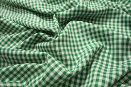 Tkanina dekoracyjna - kratka zielona mała