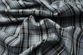 Tkanina dekoracyjna - kratka błękitna