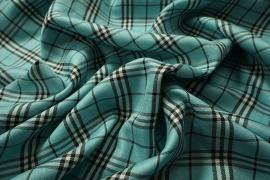 Tkanina dekoracyjna - kratka miętowa