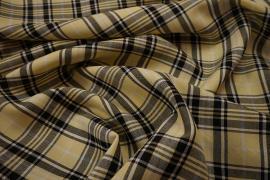 Tkanina dekoracyjna - kratka pastelowy żółty