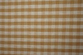 Bawełna w kratkę koloru karmelowego