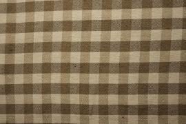 Bawełna w kratkę kolor beżowo-oliwkowy