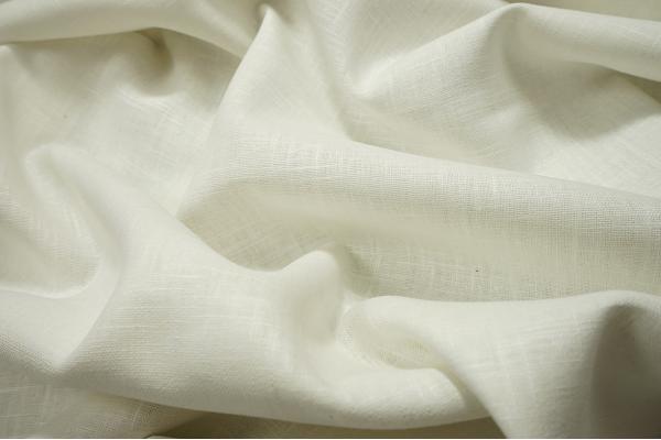 Tkanina lniana w kolorze białym