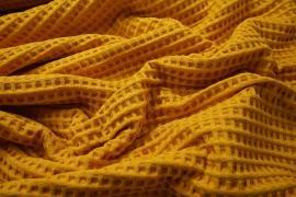 Bawełna wafel - kolor musztardowy