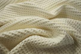 Bawełna wafel - kolor ecru