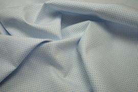 Bawełna - białe tło, błękitne kropki 2 mm