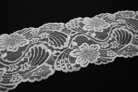 Taśma koronkowa w kolorze białym, szerokość 12 cm