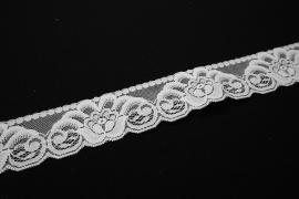 Taśma koronkowa - szerokość 4,5 cm, kolor biały