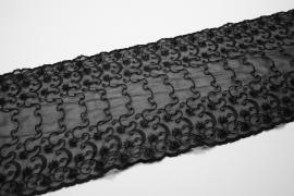Taśma koronkowa - szerokość 15 cm, kolor czarny