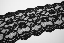 Taśma koronkowa - kolor czarny, szerokość 16 cm