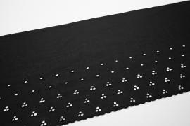 Koronka bawełniana - kolor czarny, szerokość 20 cm