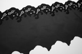 Taśma koronkowa - satyna matowa, 30 cm