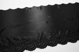 Taśma koronkowa - satynowa, 28 cm