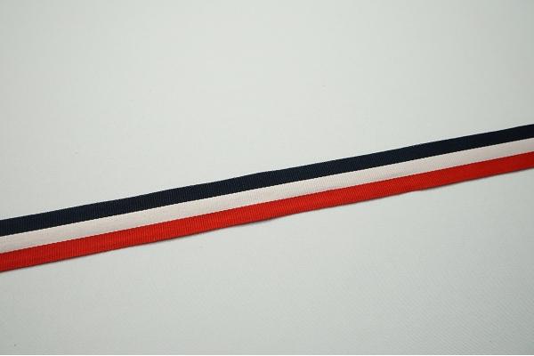 Lamówka - granatowy, biały, czerwony, 2.5 cm