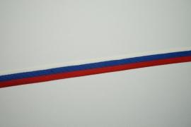 Lamówka - biały, niebieski, czerwony, 2.5 cm