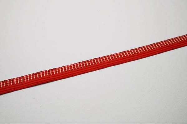 Lamówka ozdobna w kolorze czerwonym