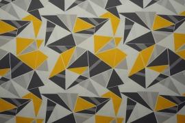 Tkanina ogrodowa wodoodporna - geometryczny, kolorowy wzór
