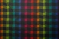 Tkanina ogrodowa - kolorowa kratka - gładka